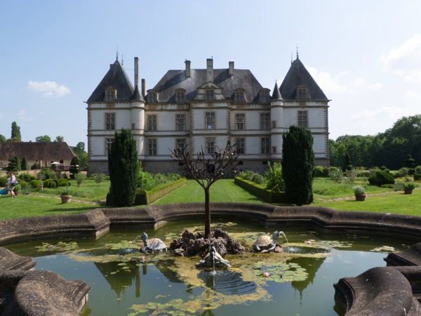 chateau and water feature