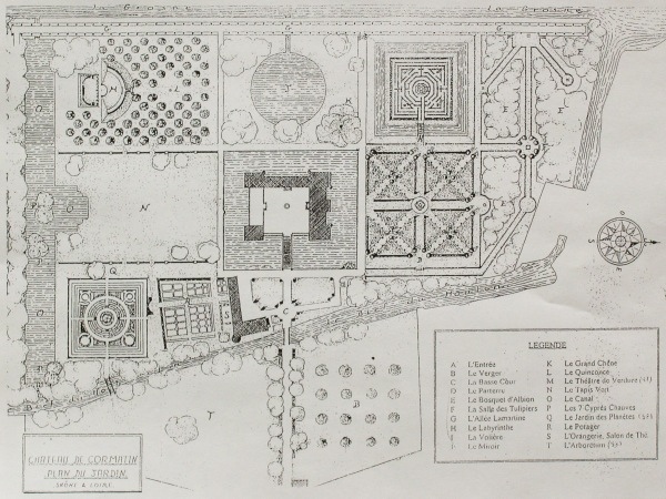 Plan jardin cormatin