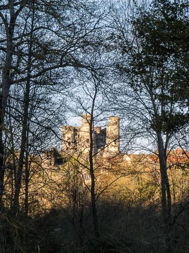 Domeyrat Castle across the Senouire River