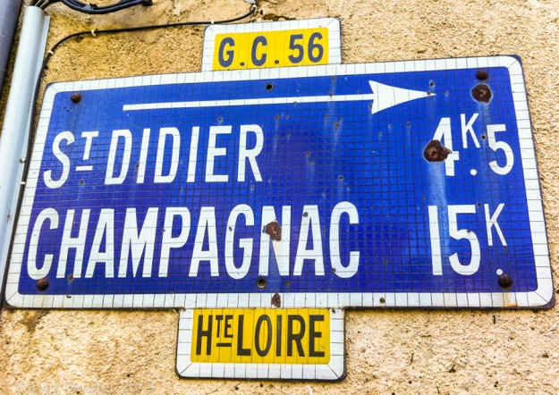 Old road sign