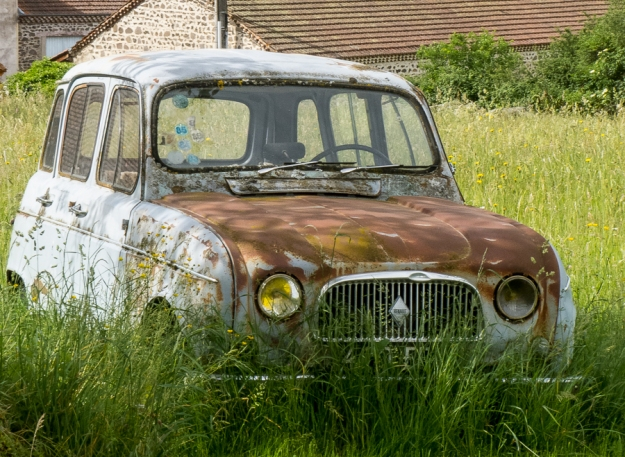 Abandoned Renault 4, Cougeat