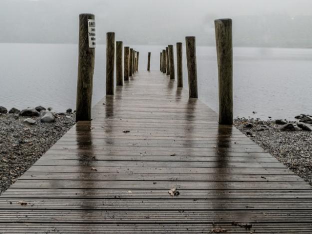 jetty, lake windemere