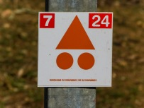 VTT(mountain bike) trail sign