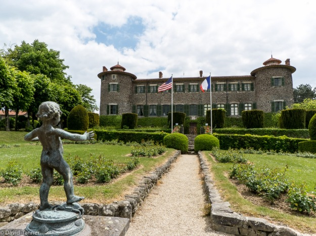 rose gardens and chateau