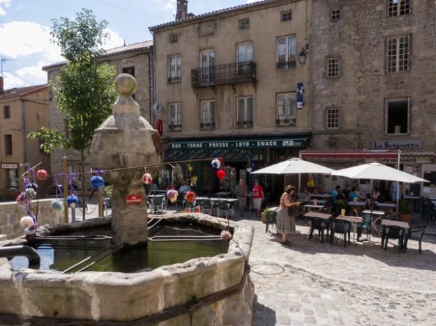 The square at La Chaise Dieu
